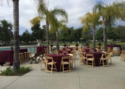 Corporate events gallery -event patio setup