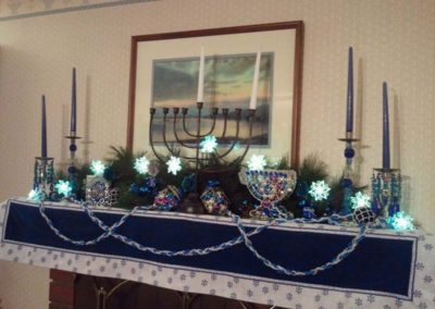 Holiday Decor Residential Gallery -residential hanukkah decorations