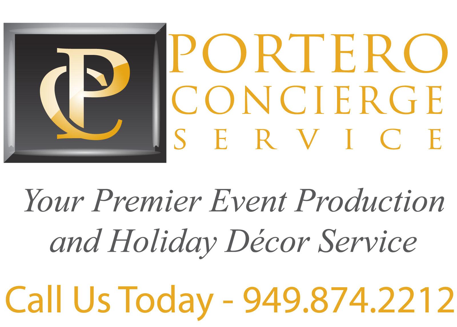 Portero Concierge logo and contact information